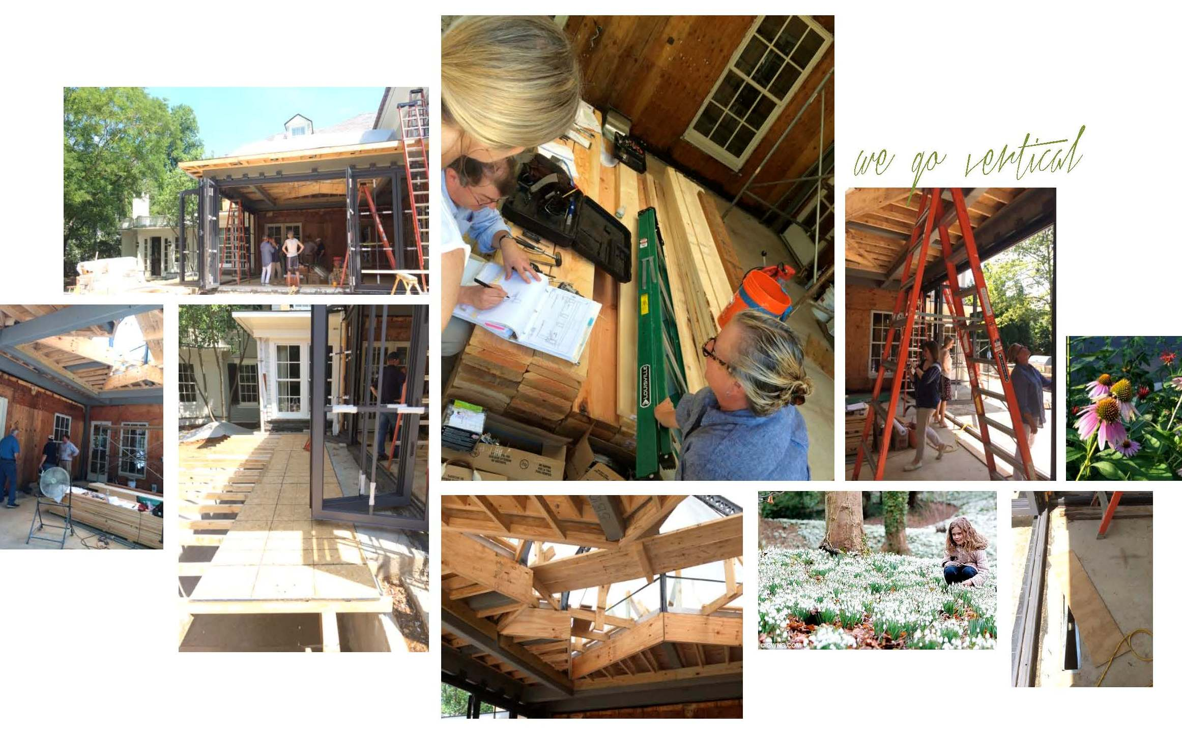 Huntley & Co. Edgemoor sunroom construction progress