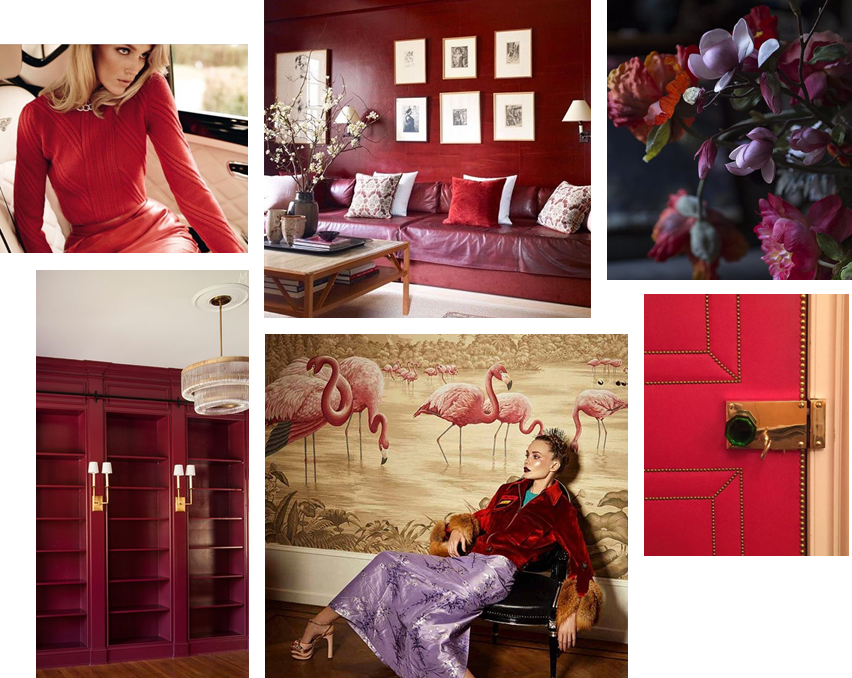 Valentine's Day color interior design inspiration