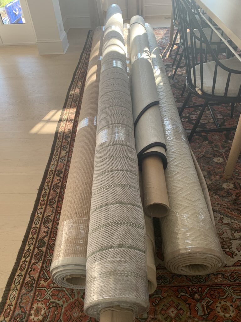 rugs ready to be installed at huntley & co. bay ridge project