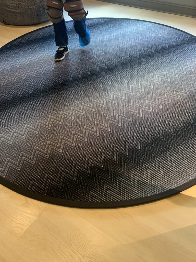 huntley & co. installs missoni area rug in annapolis